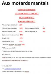 Condition motards 2017